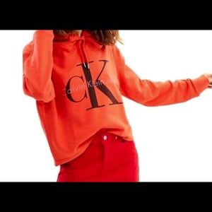 Calvin Klein cropped hooded sweatshirt